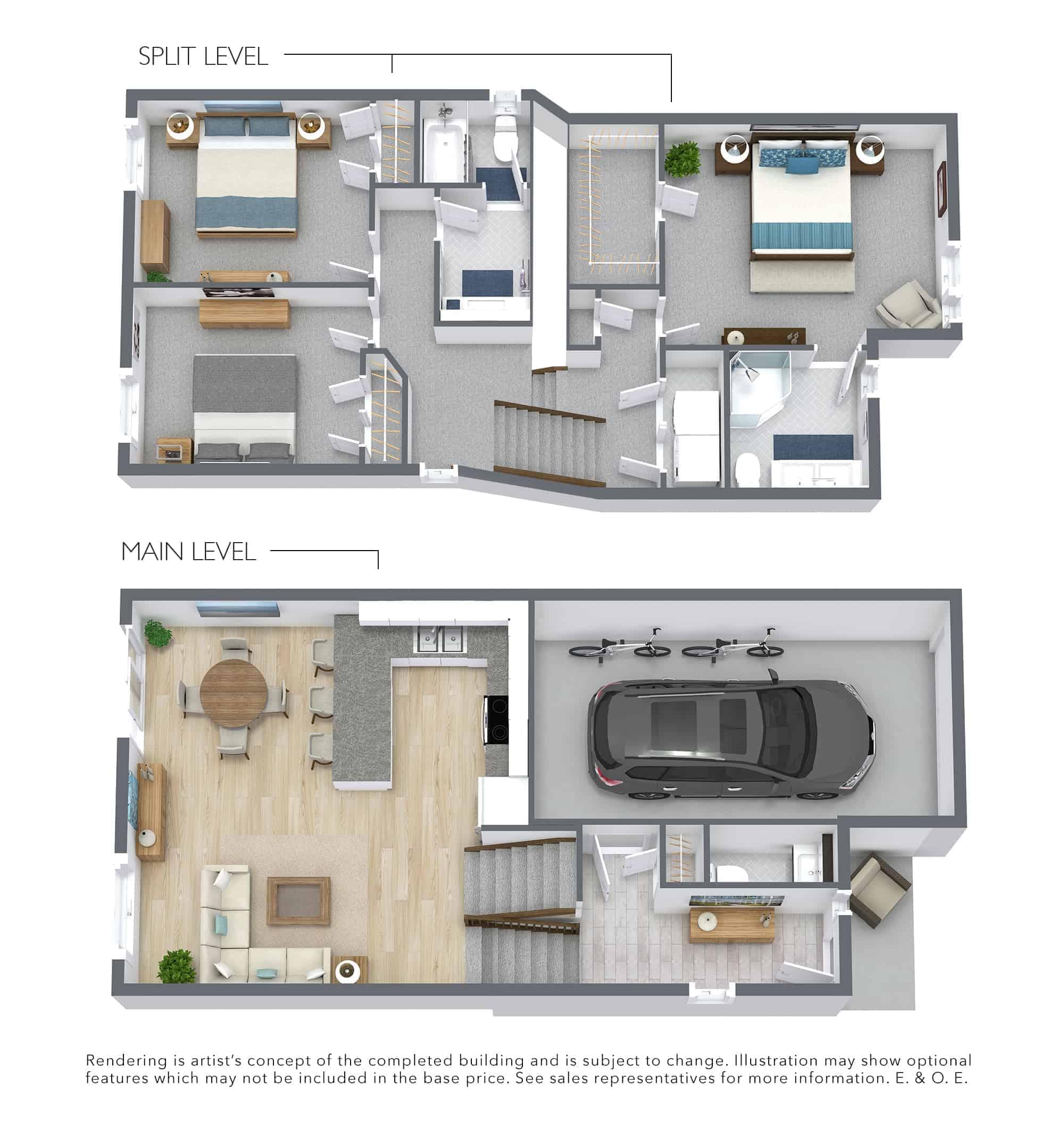 3d Rendering of the Berkeley Floor Plan