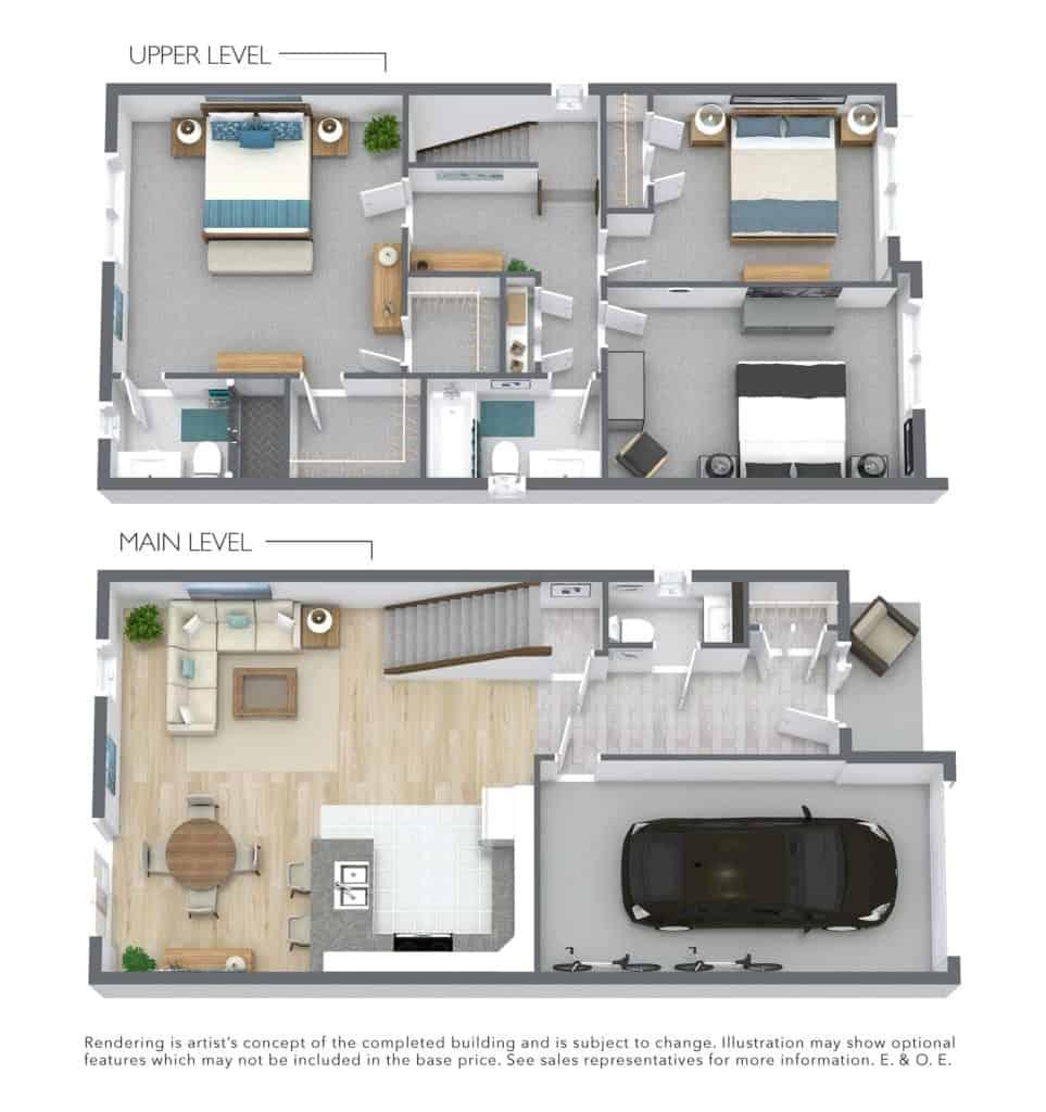 3d Rendering of Catalina Floor Plan