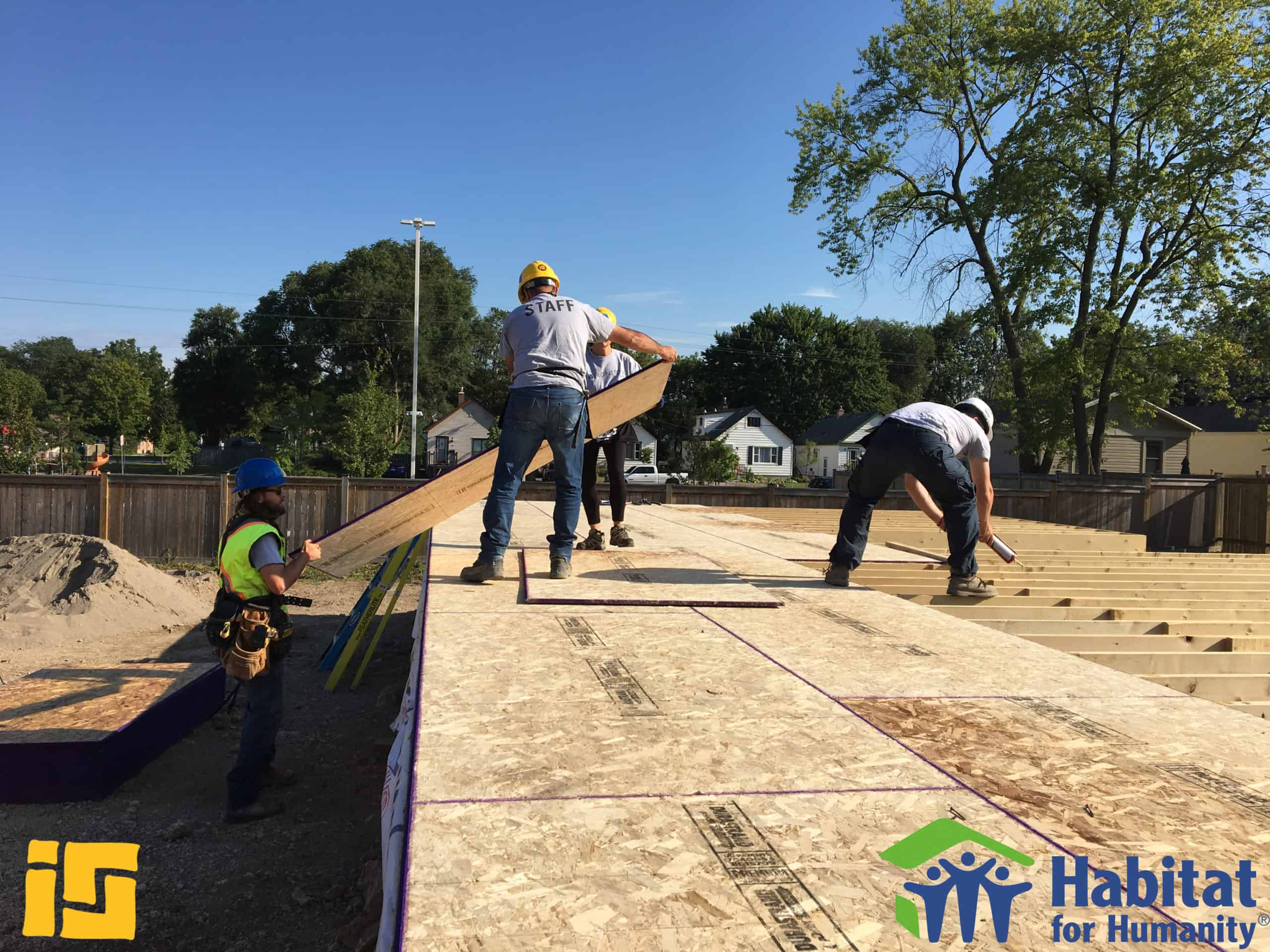 Ironstone Staff working on Habitat for Humanity Building