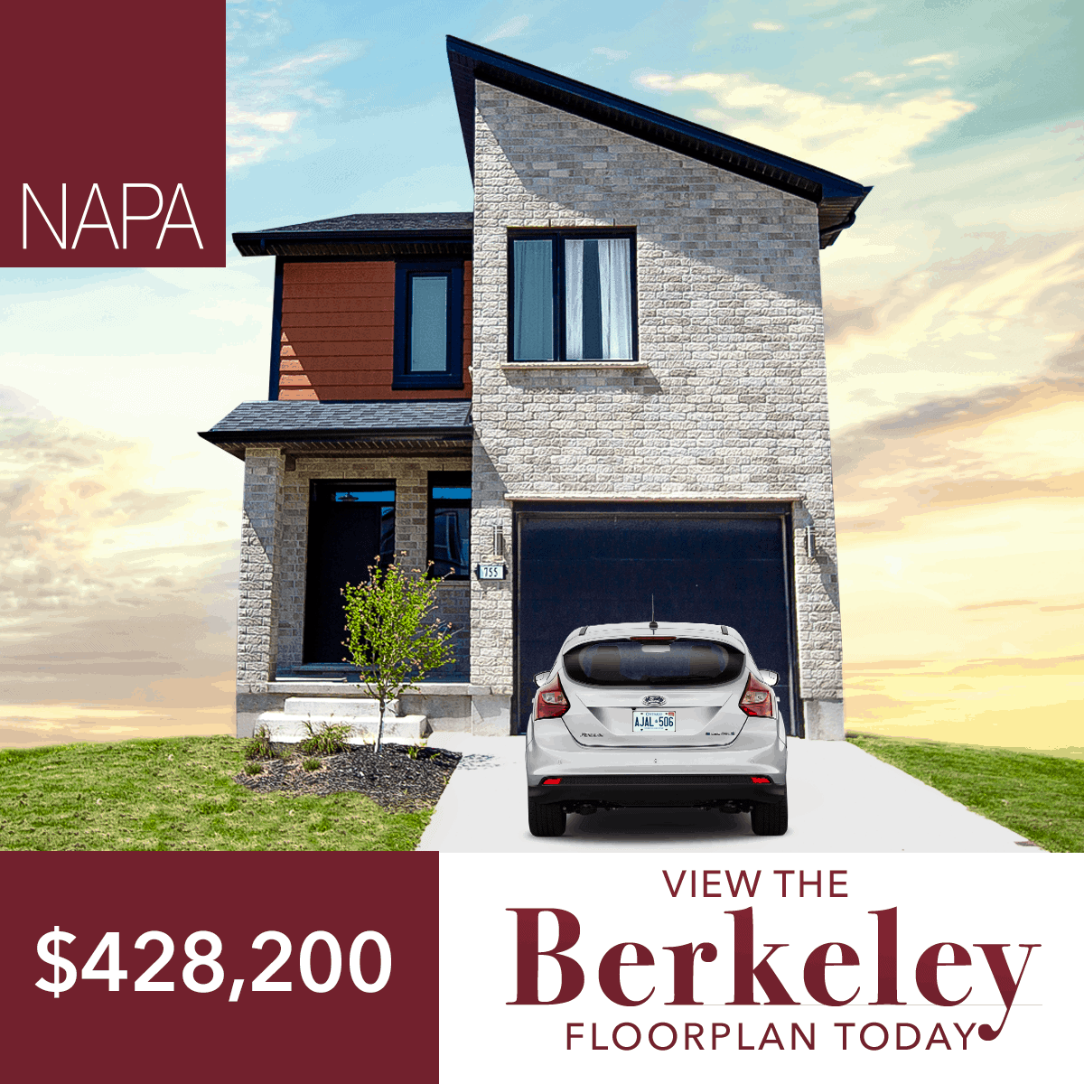 The Berkeley New Home For Sale in London Ontario for $428,200