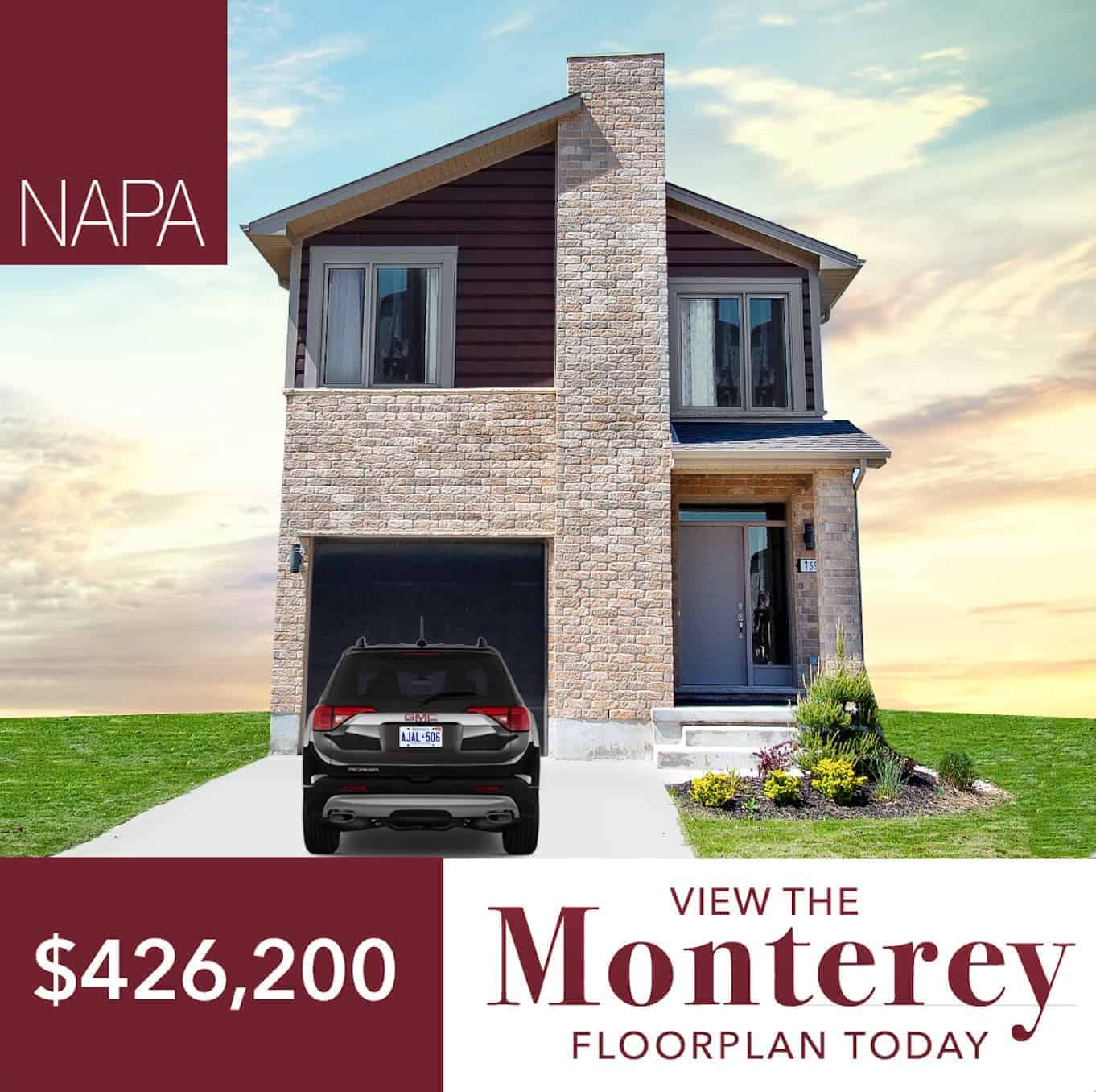 The Monterey Home in London Ontario for $426,200