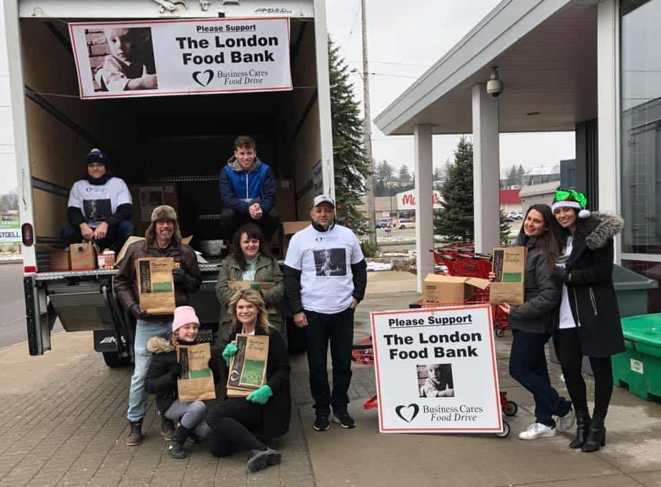 Ironstone collecting donations for The London Food Bank