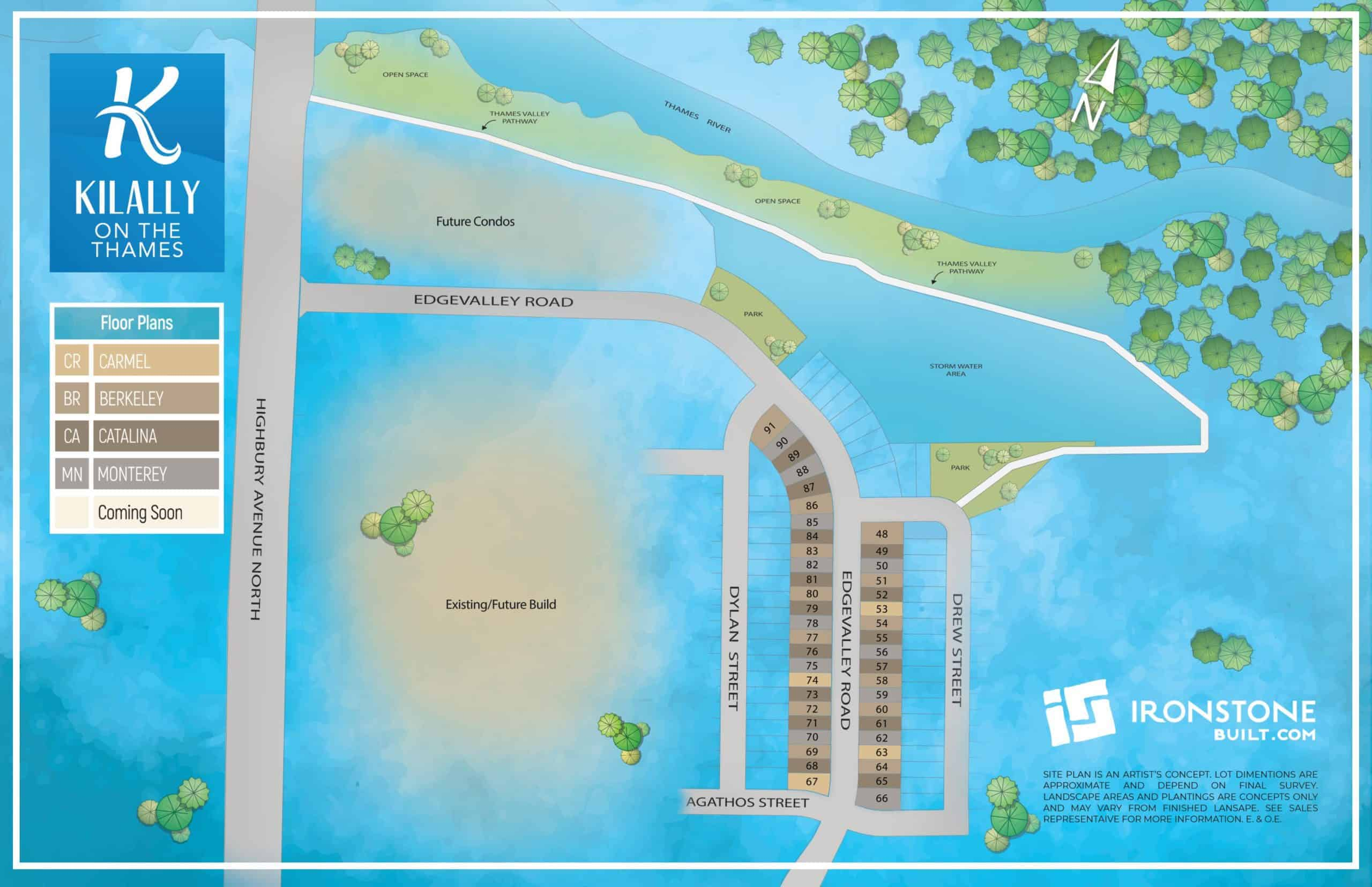 kilally on the thames site map